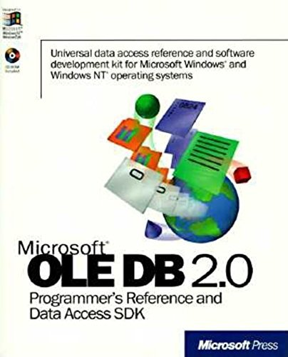 Microsoft OLE DB 2.0 Programmer's Reference and Da...