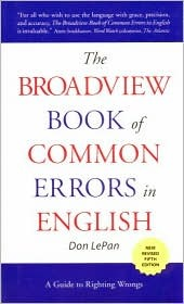 The Broadview Book to Common Errors in English: A ...