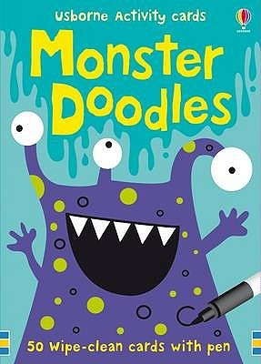 Usborne Acty Cards/Monster Doodles: 50 Wipeclean C...