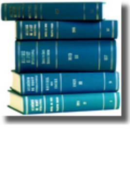 Recueil Des Cours, Collected Courses, Tome/Volume ...